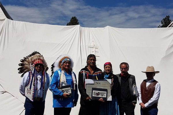 The PAMF attended the Buffalo Treaty Anniversary event in Montana, May 2018, to show their support for Mistawasis Nêhiyawak becoming an official Buffalo Treaty Nation.