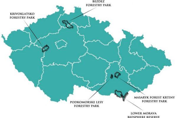 Model Forest Czech Republic map